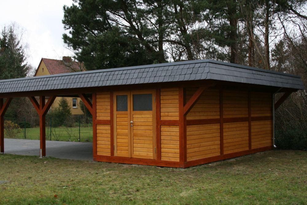 carport schuppen elegant eine kombination aus carport und schuppen spart geld with carport. Black Bedroom Furniture Sets. Home Design Ideas