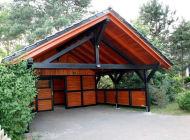 Carport Spitzdach Schuppen04